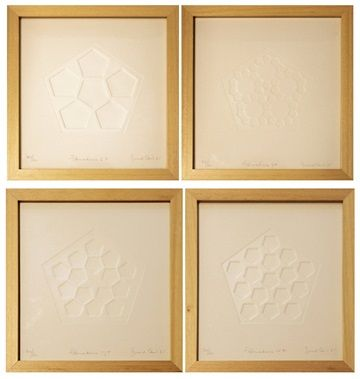 Embossed Prints (paper reliefs) Series of 18 28 x 26 cm 1985